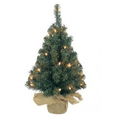 Everlands Mini Kunstkerstboom jute zak 60cm 20 LED
