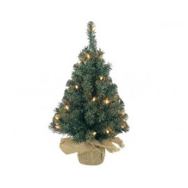 Everlands Mini Kunstkerstboom jute zak 90cm 50 LED