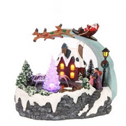 House of Seasons Kersttafereel met adapter 25x18x21cm