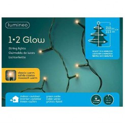 Kerstboomverlichting 1-2 glow 210cm 223 LED lampjes classic warm wit