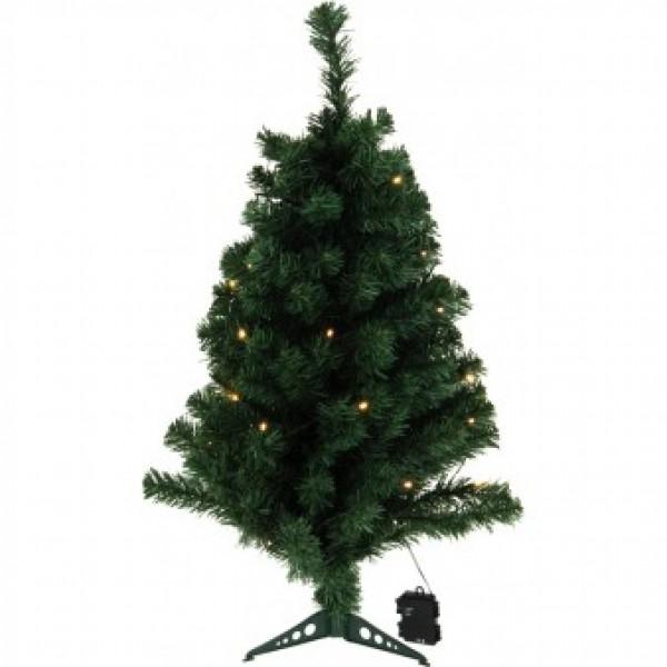 Kleine kunstkerstboom : Kunstkerstboom 90cm met 35 LED lampjes ...