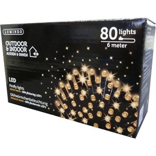 Led Firefly Fonkel Kerstverlichting Buiten 600cm 80 Lampjes Zwart