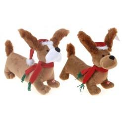 Kersthond pluche 38cm