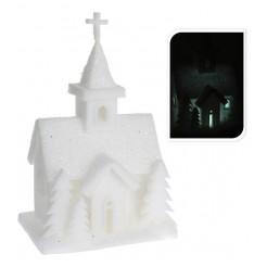 Kerk Led 44 cm wit