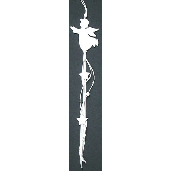 Deco hanger wit 40cm 4ass kerst specialist - Deco wit ...