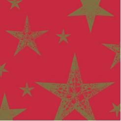 Duni Servetten My Star Red 3-laags