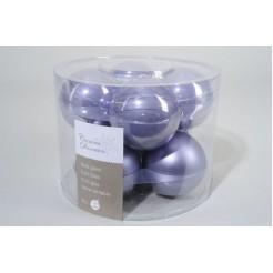 Koker kerstballen glas 70mm lila