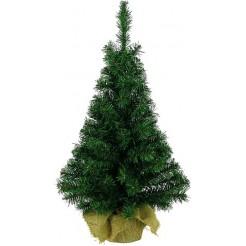 Kerstboom in jute zak 60cm
