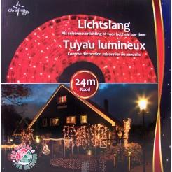 Lichtslang rood 24m