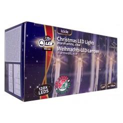 Kerstverlichting ijspegels wit 120 LEDs