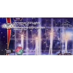Kerstverlichting ijspegels wit 240 LEDs