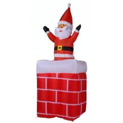 Moving up  down  Santa in schoorsteen 180cm